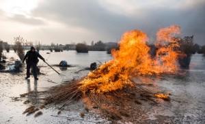 Nádégetés a Bujtosi-tónál